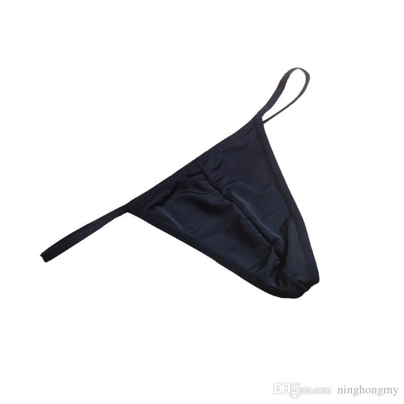 Ropa interior de los hombres atractivos suave y transpirable de moda elástica masculina cómodos escritos en forma de U bolsa de diseño de hombres Tangas bolsa de pene gay G bragas de cadena