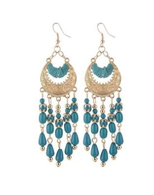 Bohemian Dangle Earrings Crescent Moon Waterdrop Tassel Gold Filled Earring Sets For Girls /Ladies Gifts For Her