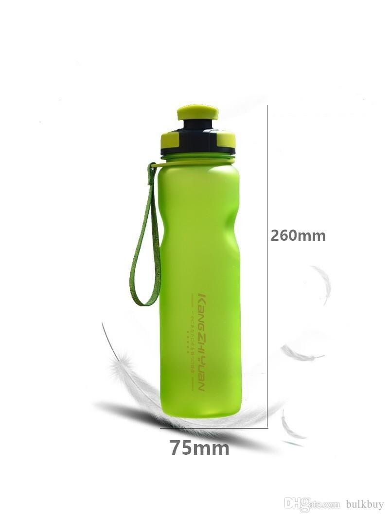 KANGZHIYUAN 1000 ml Yüksek kapasiteli Plastik Spor Şişe Açık Spor Bisiklet Su Bardağı Taşınabilir Taşlama Uzay Fincan