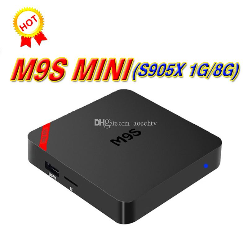 2018 Mini M9S Amlogic S905X Android 7.1 Marshmallow TV Box Quad Core 1G 8G Media Player HDMI Multimedia Set Top Box