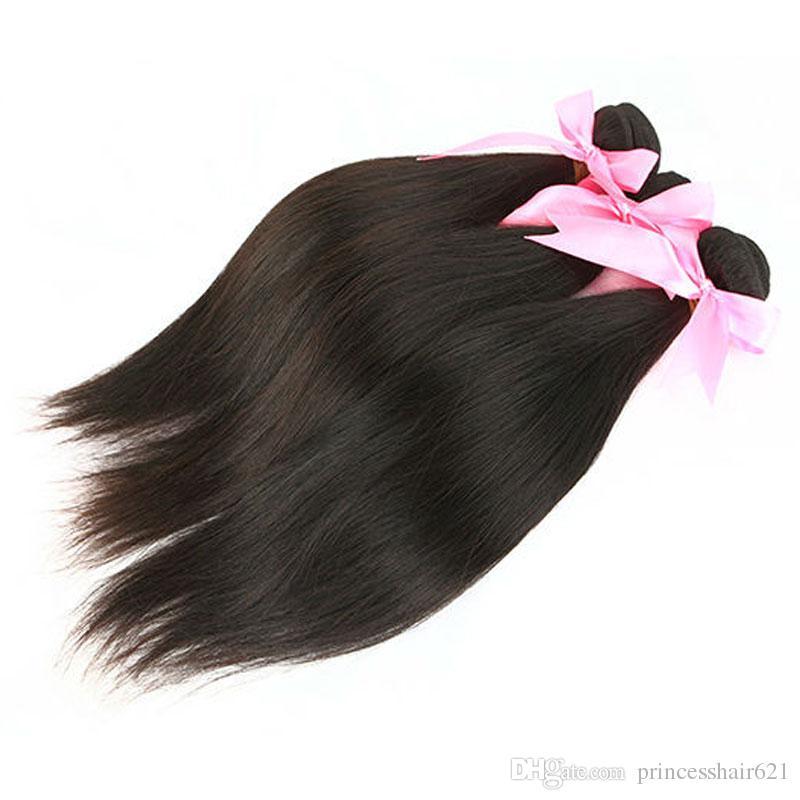 Brasilianische Haarwebart MikeHair Günstige Menschenhaarverlängerungen Natürliche Farbe Peruanisches malaysisches indisches kambodschanisches mongolisches Haar 3 Stück