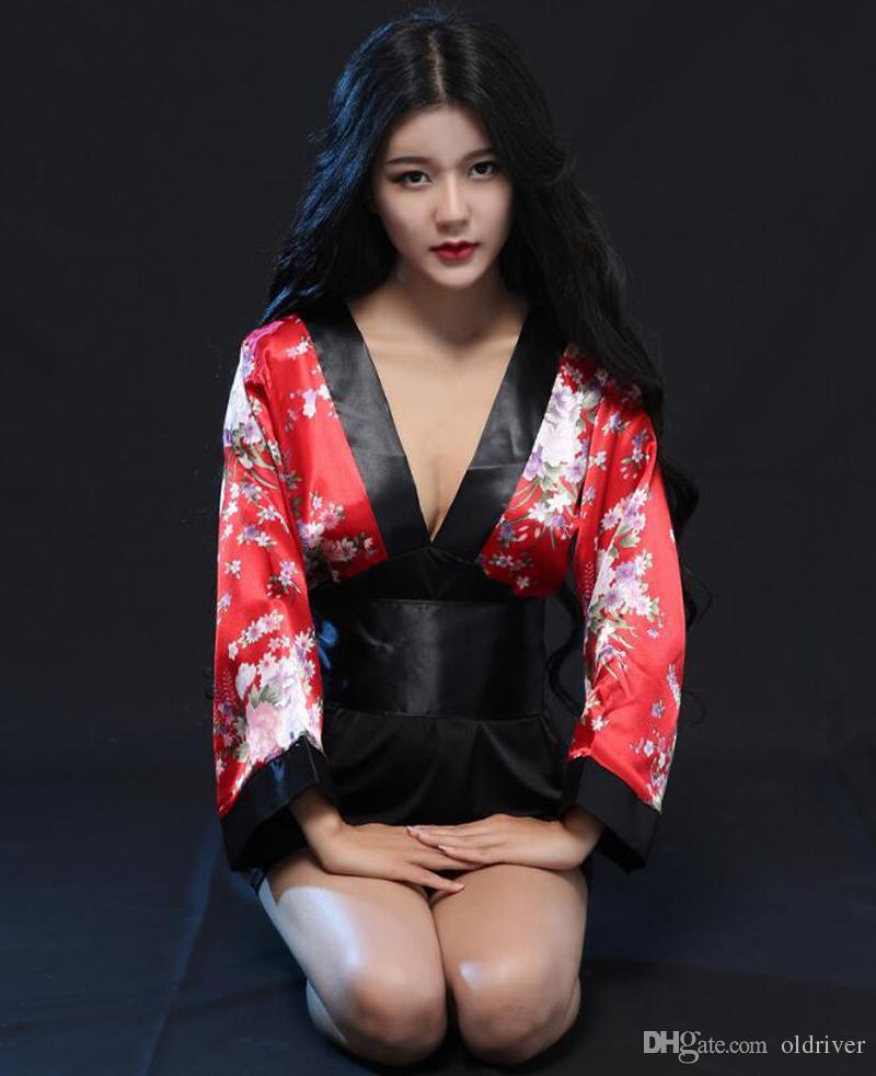 Sexy Halloween Sakura Impresso Cosplay Anime Traje Vestido Lolita Maid Vestido japonês traje de quimono frete grátis