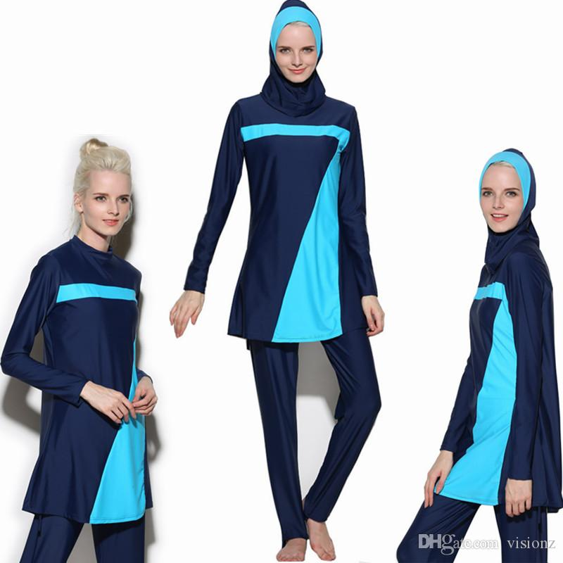 Full 2017 Cover Islamic Swimwear Women Modest Full Cover Arab Beach Wear Hijab Swimsuit Swimwear Burkinis for Muslim Girls Women Burkini