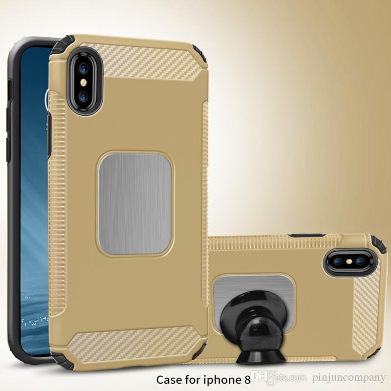 Hybrid-Rüstungs-Kasten für iphone 8 iphone X Samsung Galaxy Note 8 S8 PLUS für Motorola Moto E4 MetroPCS Dual Layer-Schutz-Abdeckung