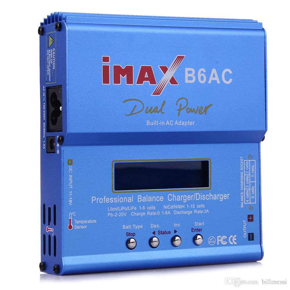 IMAX B6AC 디지털 AC 80W Lipo NiMH Nicd 리튬 배터리 밸런스 충전기 방전기 LCD 스크린 전원 공급 장치 포함 EU Plug RC B6