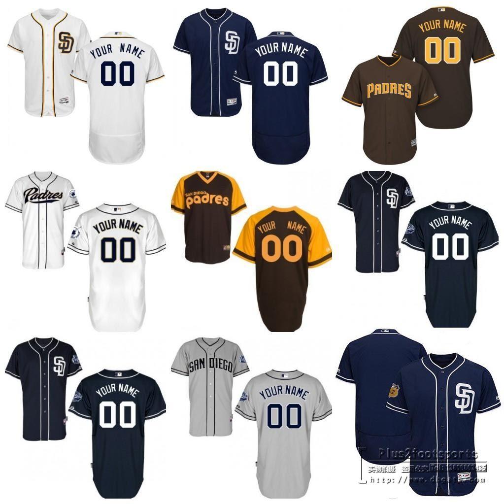 fbc93831 ... cheapest 2017 baseball jerseys mens san diego padres customized  majestic white red grey flexbase cool base
