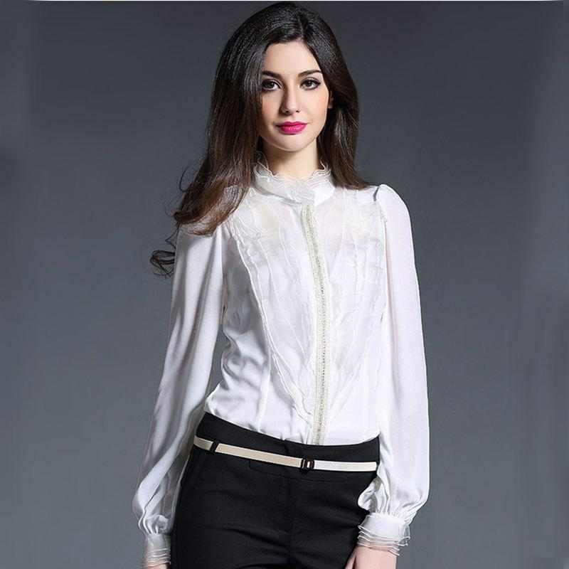 cf648ad0011235 New Spring Runway Designer Blouse Women s High Quality Puff Sleeve ...