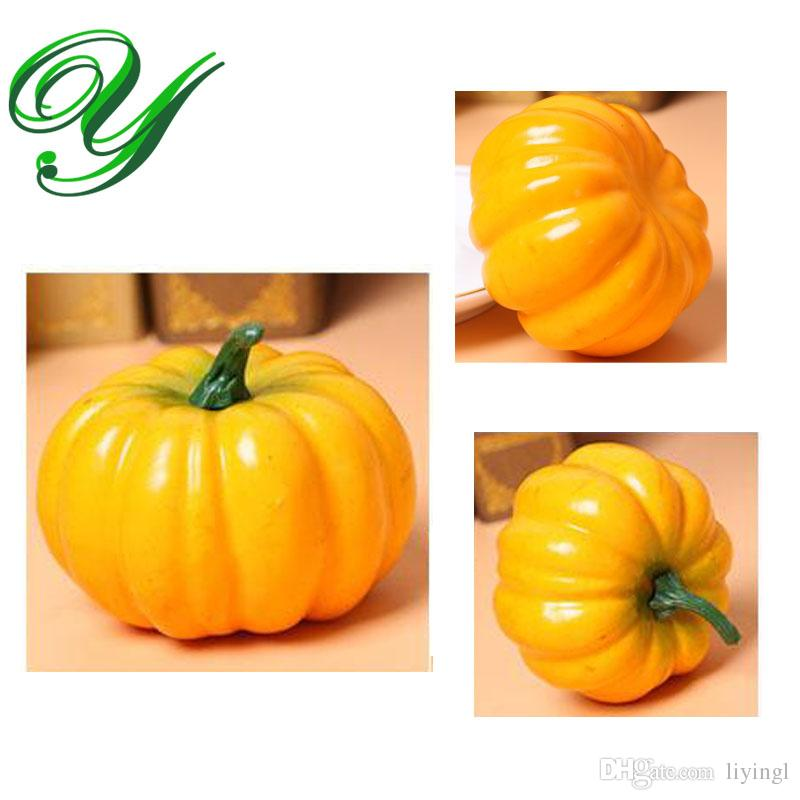 Artificial Fruit And Vegetables Decor Plastic Foam Pumpkins Halloween  Decoration Christmas Fall Harvest Home Garden Table