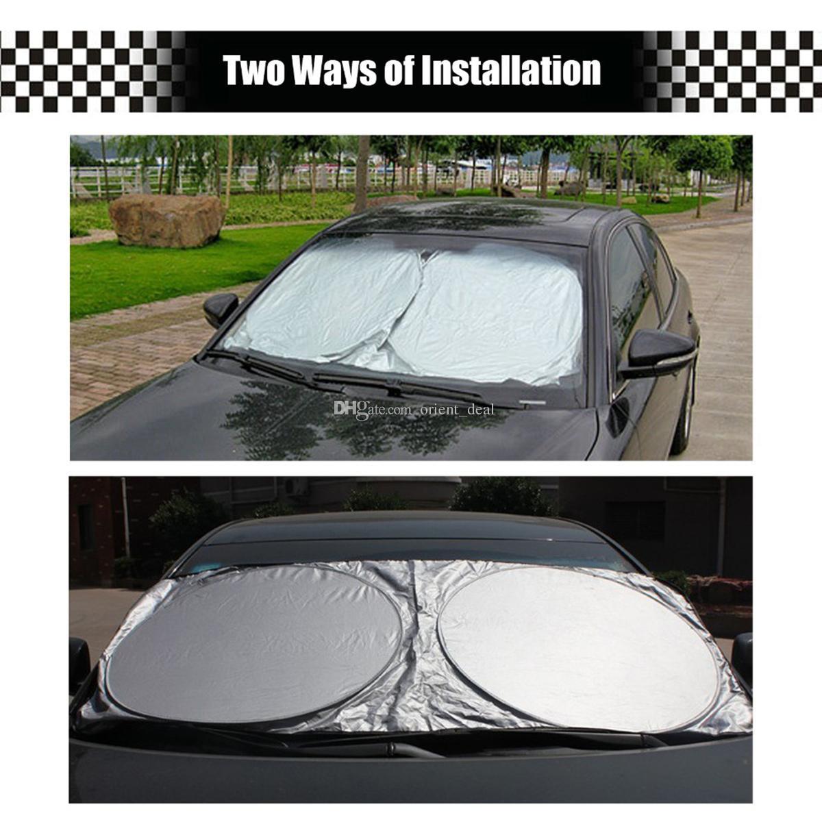 Автомобили Складная Ветровое стекло козырек крышки ВС Shade Heat Shield Block Front Window Зонт UV Protect Авто Солнцезащитный козырек Автомобильные чехлы 6 шт