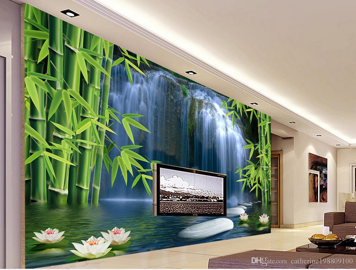 Bamboo wall decor art vinyl online bamboo wall decor art vinyl home decor living room natural art bamboo spring 3 d tv setting wall 3d wall murals wallpaper amipublicfo Choice Image