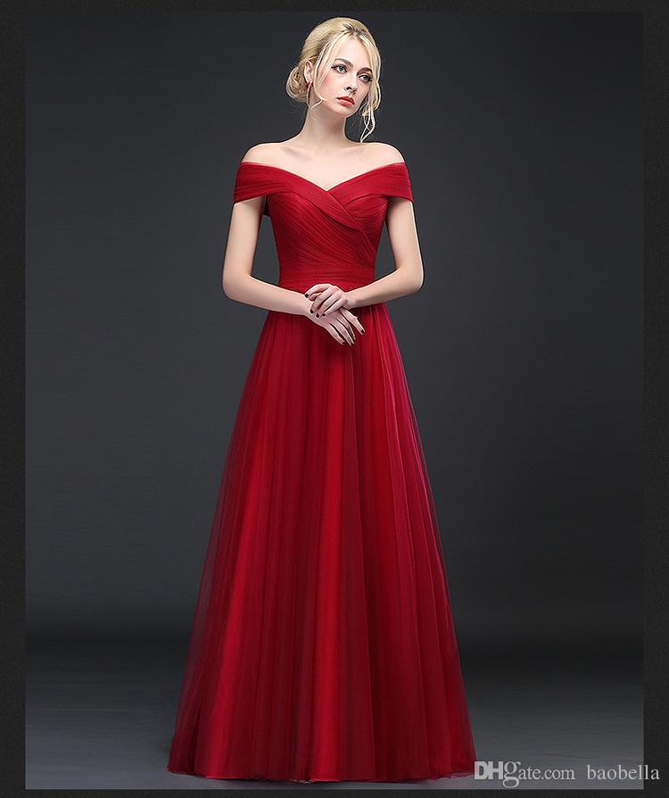 Großhandel Neue Ankunfts Weinlese Rote Ballkleid Abend Kleid Schatz ...