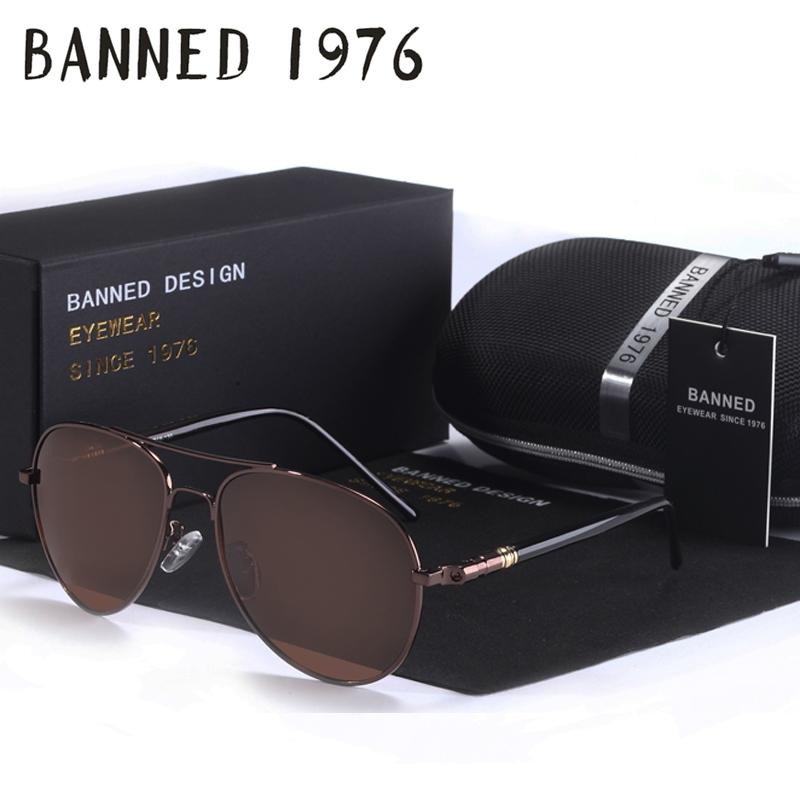 2be3115916 Wholesale BANNED Brand Designer Cool Polarized Oculos Fashion Men Women  Aviatation Sun Glasses UV Sunglasses Male Driving Fishing Eyewear Smith  Sunglasses ...