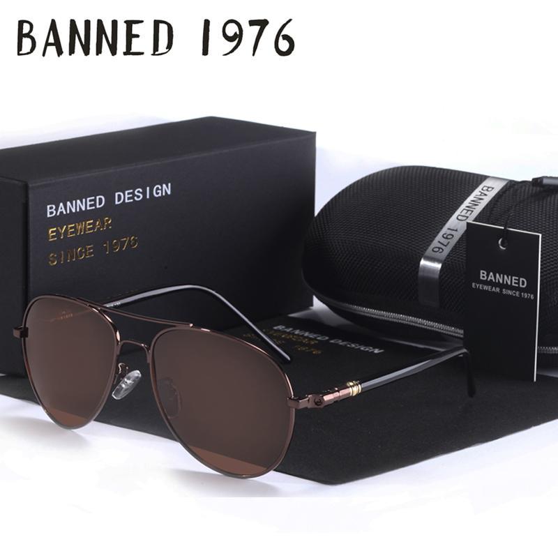 9b1dc69ea7bd Wholesale-BANNED Brand Designer Cool Polarized Oculos Fashion Men ...