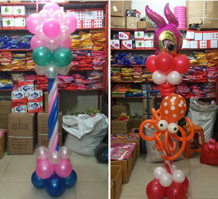 Büyük Büyük plastik balon kemer sütun tabanı Kaide Düğün festivali süslemeleri Yol kurşun taban Parti malzemeleri Pembe Beyaz Gri Yok kutup
