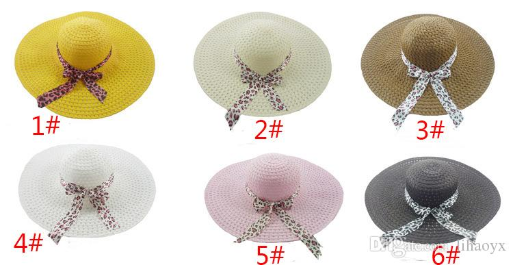 2017 New Wide Brim Floppy Fold Sun Hat Summer Hats for Women Out Door Sun Protection Straw Hat Women Beach Hat M029