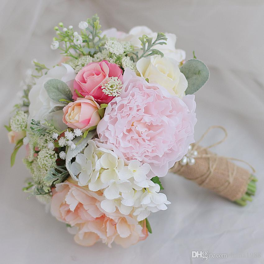 Iffo Korean Style High End Custom Bride Hand Holding Flower Bouquet ...