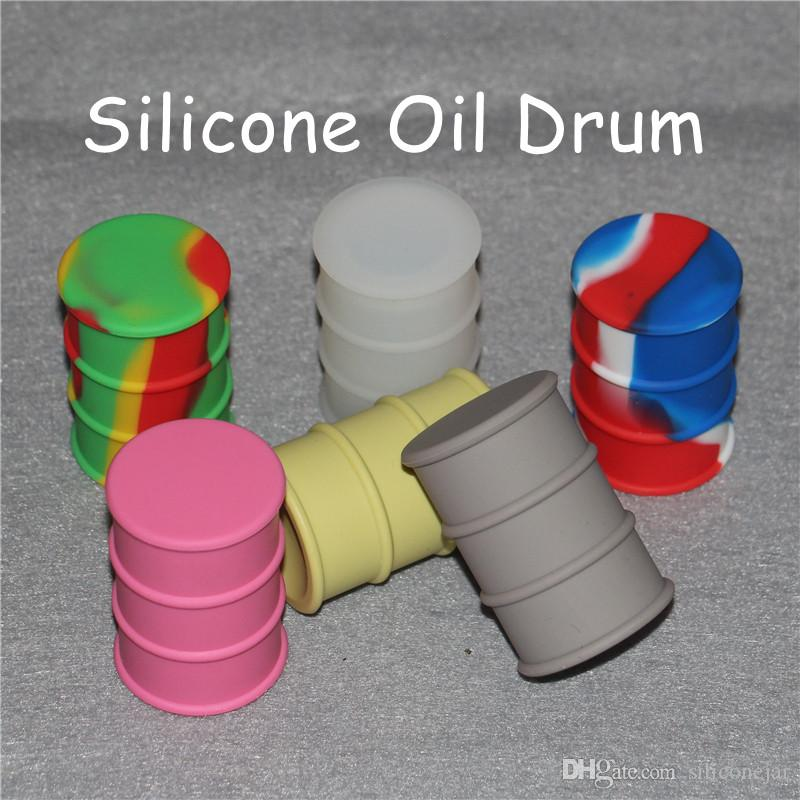Aceite antiadherente Slicks Silicone Jars Dab Contenedor de cera Aceite de silicona Tambor Barril Contenedor Multi colores Envío gratis