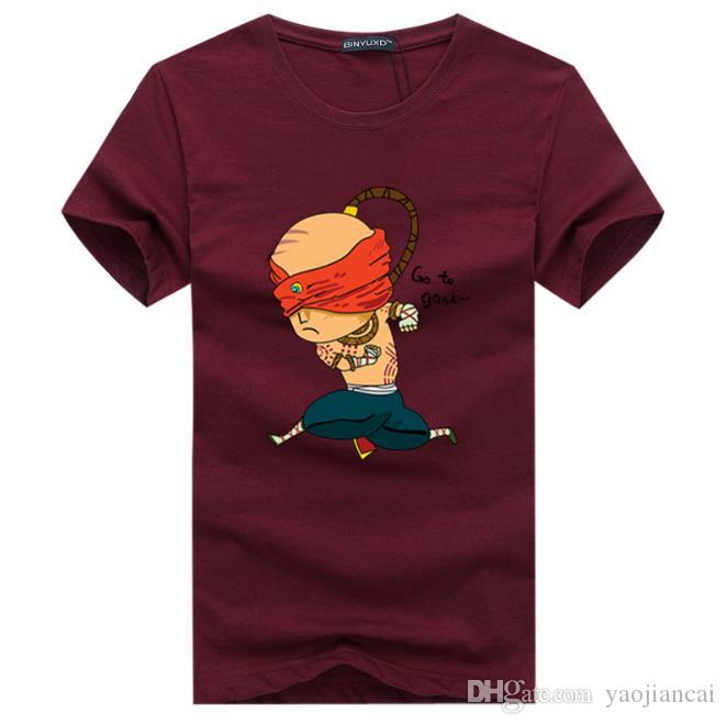 Plus Size S-5XL Man Tshirts New Fashion men's O-Collar Short Sleeve Pritting Cotton Casual Mens T Shirt
