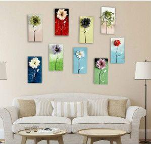 Nuovo stile vintage in legno muro dipinto a mano disegno con fiori artificiali in legno la casa deocration