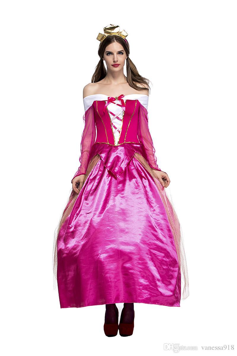 großhandel kostüme prinzessin kleider erwachsene phantasie cosplay  halloween kostüm für frauen fantasien kleid frau mit gratis geschenktüte  ps031 von