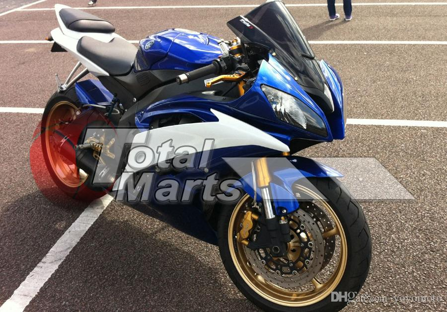 Carene Yamaha YZF-R6 YZFR6 2008 2009 2010 2011 2012 2013 08-13 Iniezione blu fd3681 Blu-Bianco 86 fd3686
