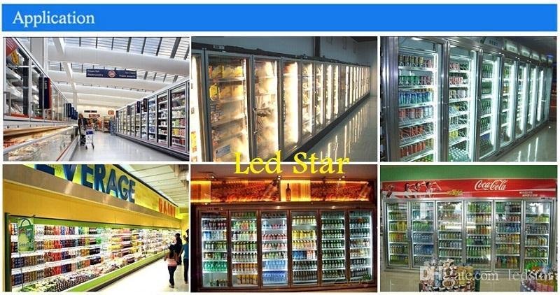 V-Shaped dois pés 3 pés 4 pés 5 pés 6 pés 8 pés refrigerador Porta Led Tubes T8 Integrado Led Tubes lados dobro Luzes Led 85-265V ações em US