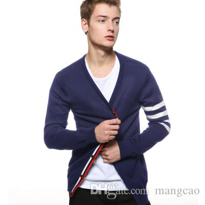 Wholesale- New England men sweater Institute wind fringe Metrosexual fashion knitting cardigan sweater