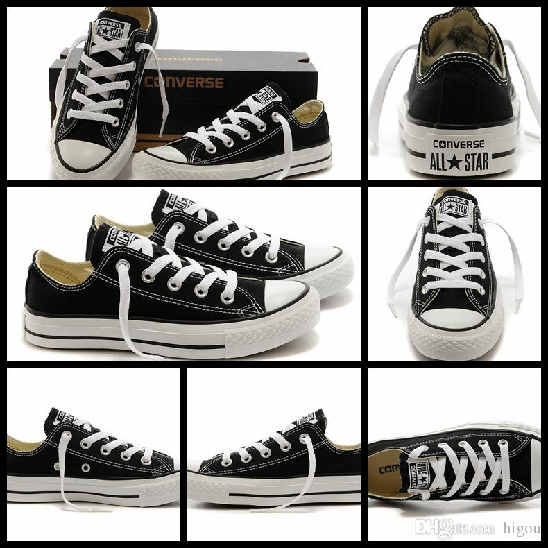 42b5a4fde 2017 Converse Chuck TayLor All Star Core Black White Shoes Low Top For Men  Women Casual Canvas Shoes Running Converses Sneakers Classic Shoe Navy Shoes  Blue ...