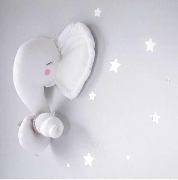 Excellent Elephant Head Decor 3D Toy Stuffed Animal Heads for Baby Kids Room  VL75