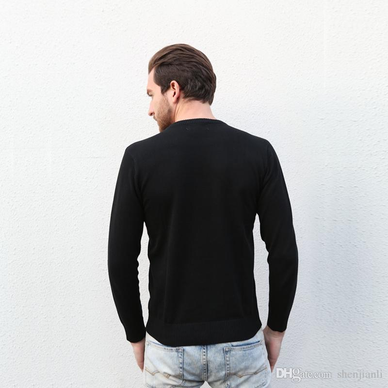 2017 new high quality pullover men men sweaters Brand sweater Slim Jumpers pullover jerseys men O-Neck size S-XXL