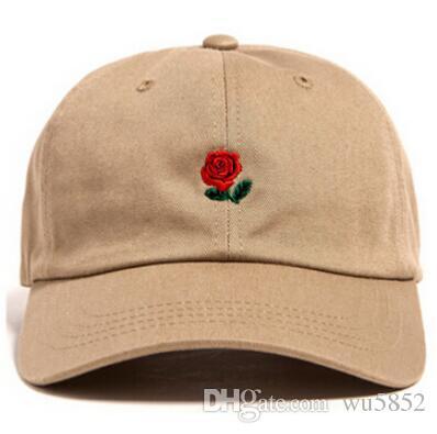2017 New Fashion Curved Visor Rose Embroidery Baseball Cap Snapback ... 3aa17d8d2c9f