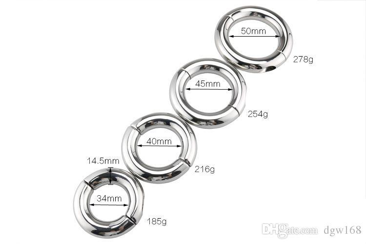 NUOVI Dispositivi di Castità In Acciaio Inox Cock Ring Pene Glans Penis Stretch Ring Ball Barella Ritardo Del Peso Eiaculazione Giocattoli adulti Del Sesso M