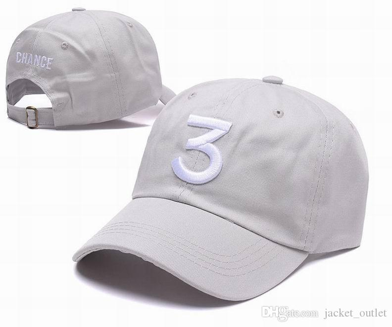 Alta calidad Chance 3 Strapback Caps Sombreros Correa espalda Hombres Mujeres Sport Snapback Gorra de béisbol Hip Hop Sombrero ajustable Venta