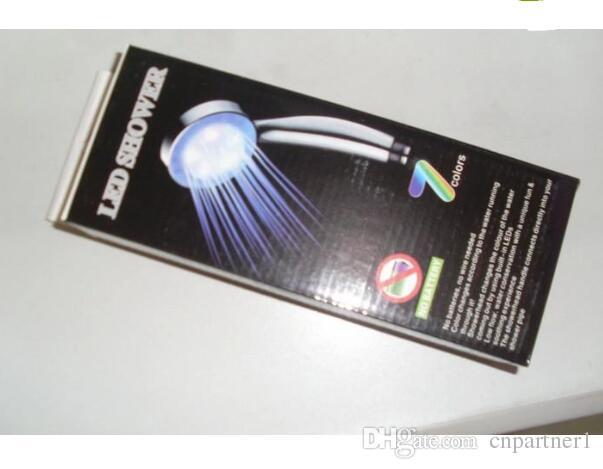 El mejor precio Control de temperatura cambiante de es Colorido LED Cabezal de ducha Luz de cabeza de ducha de agua LED Resplandor Luz de grifo de LED