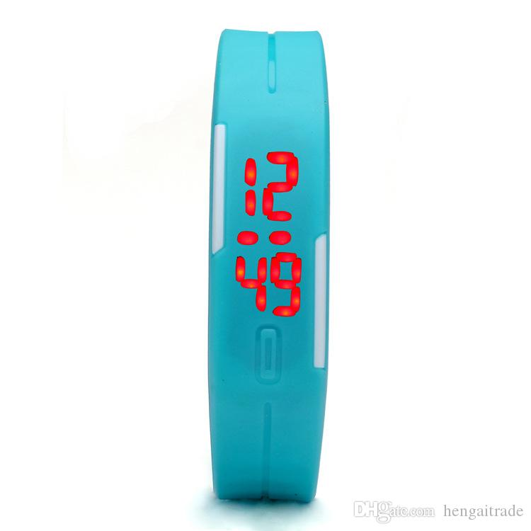 waterproof The keys Touch square dial Digital Watch Silicone Bracelet Y022702