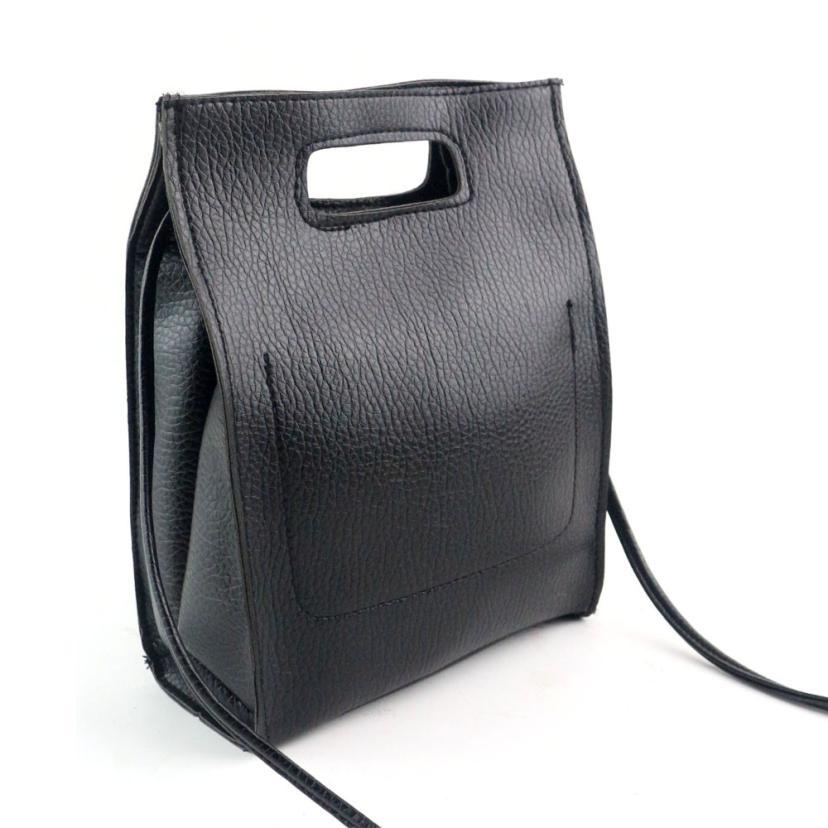 a3efdd990571 Wholesale Hot!2016 New Women Fashion Leather Shoulder Bag Lady Solid Color Crossbody  Bags Women Messenger Bags Bolsas Feminina Black YHEJ Black Handbags ...
