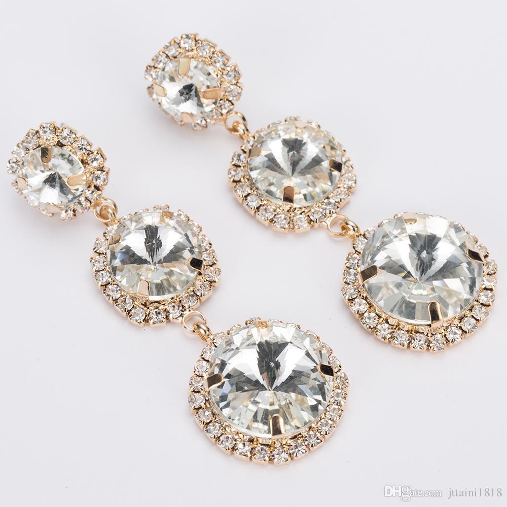 YFJEWE Nuovo arrivo gioielli di alta qualità strass di cristallo orecchino di goccia le donne gioielli moda regalo di nozze le ragazze E293