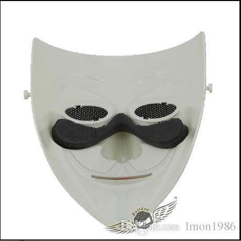 High Quality V For Vendetta Mask Resin Collect Home Decor Party Cosplay Lenses Anonymous Mask Guy Fawkes CS Game Mask outdoor cosplay