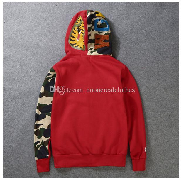 Erkek kadın Sportwear Coat Jogger Eşofman Kazak Fleece Sweatshirt Crewneck Kuş ovo Drake Siyah Hip Hop stusay Hoodie Erkekler Köpekbalığı ağzı