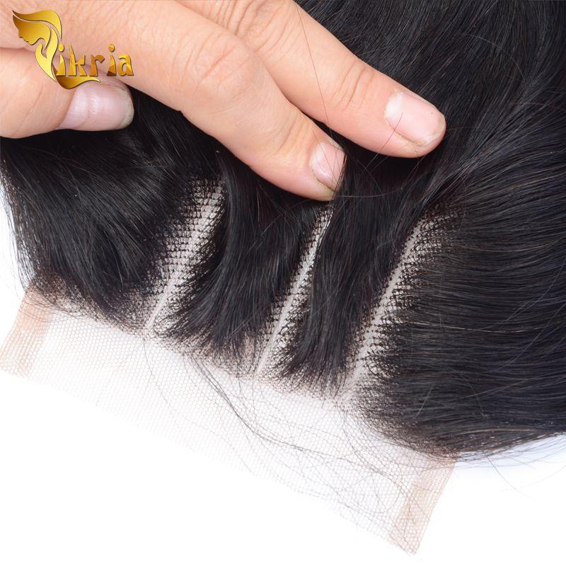Brazilian Malaysian Indian Peruvian Virgin Human Hair Closures Body Wave Natural Black 4x4 Lace Closures 8-20 inch In Stock