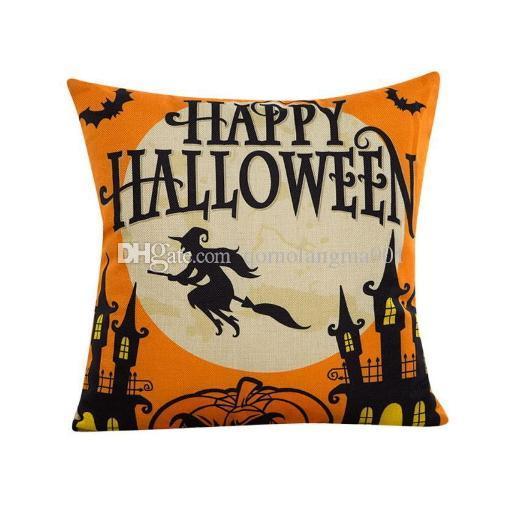 Halloween Bat Decoration Pillowcase Pillow Case Sofa Decorative Home Decor Square Cushion Cover Throw Ornament Gift Bed Car Room Happy