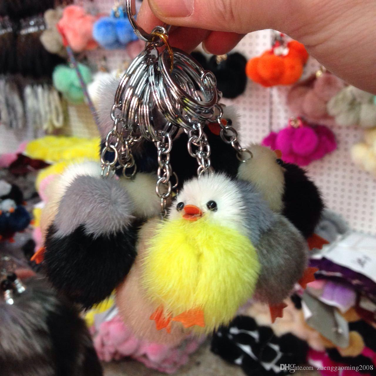 2016 Top Fashion Plush Packages Mailed 2017 Ms Little Duck Hot Style Fur Mink Handbags Accessories Car Key Chain Is Mao Mobile Phone Pendant