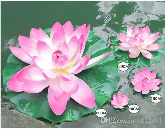 Different sizes eva artificial lotus flower water pool fish tank different sizes eva artificial lotus flower water pool fish tank decor plants craft supplies for wedding party home decoration decoration of home decoration mightylinksfo