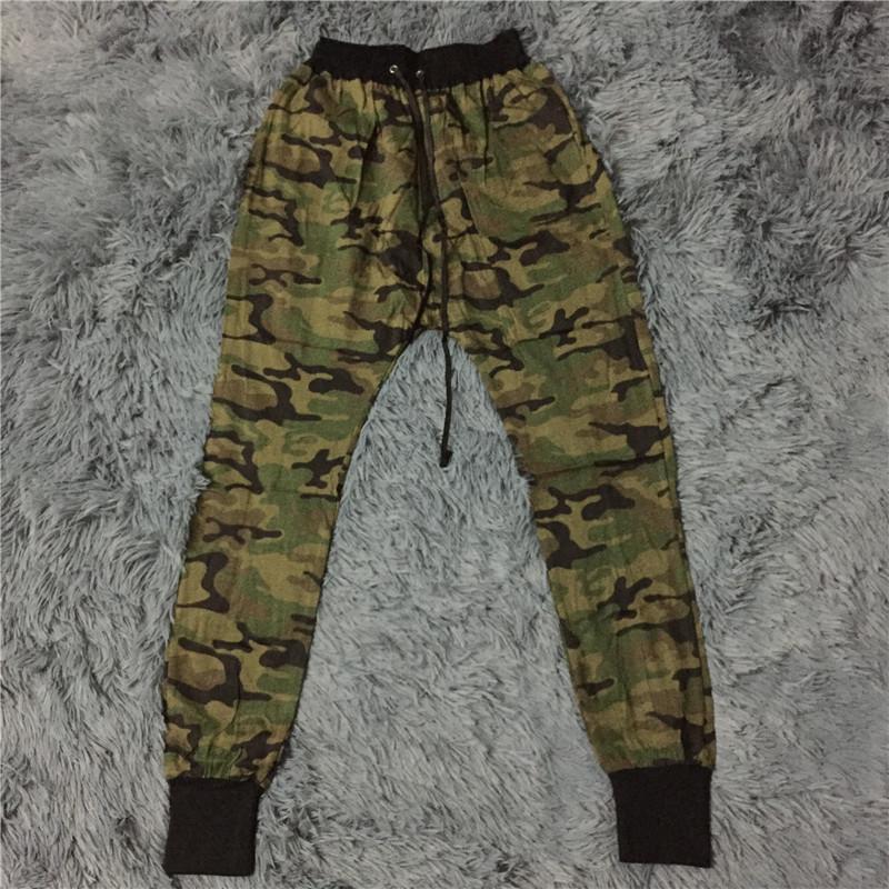 b62e6dafd8 Wholesale-KANYE High Quality Mens Bottom Jogger Pants Camo ...