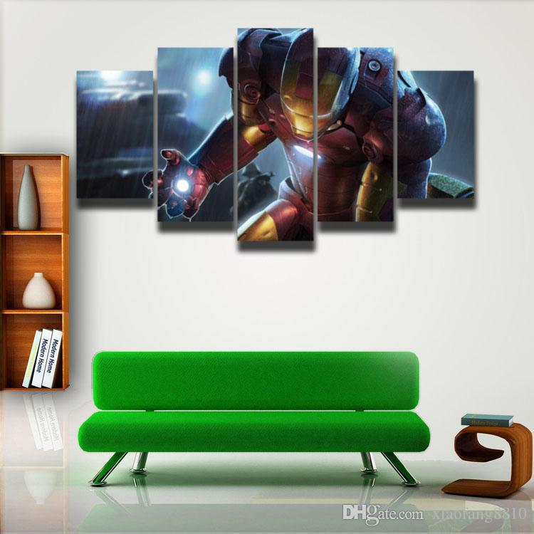 posters Marvel Iron Man picture painting on canvas wall decor for children baby room art HD Print PaintingUnframed