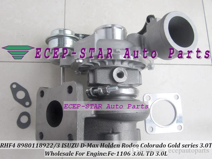 Turbo Cartridge CHRA core RHF4 VIFE 8980118922 8980118923 Turbocharger For ISUZU D-Max Holden Rodeo Colorado Gold series 3.0TD Fe-1106 3.0L