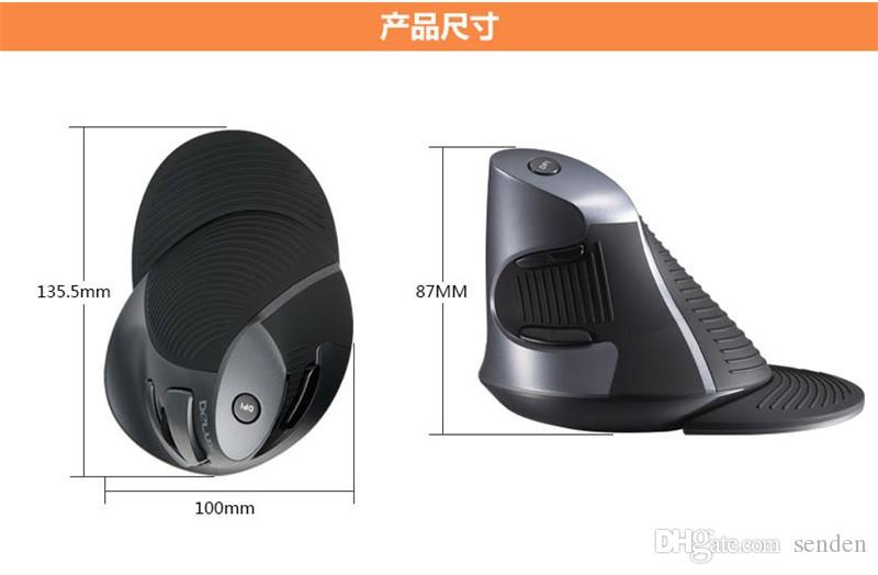 Wholesale Delux M618 Wireless 2.4GHz Ergonomic Vertical Mouse USB Optical Gaming Mice Healthy Massage Mouse 3D USB Mice for Computer Laptops