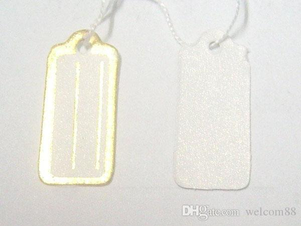 Label Tags Price Tags Card For Jewellery Gift Packaging Display 13mmX26mm LA8*