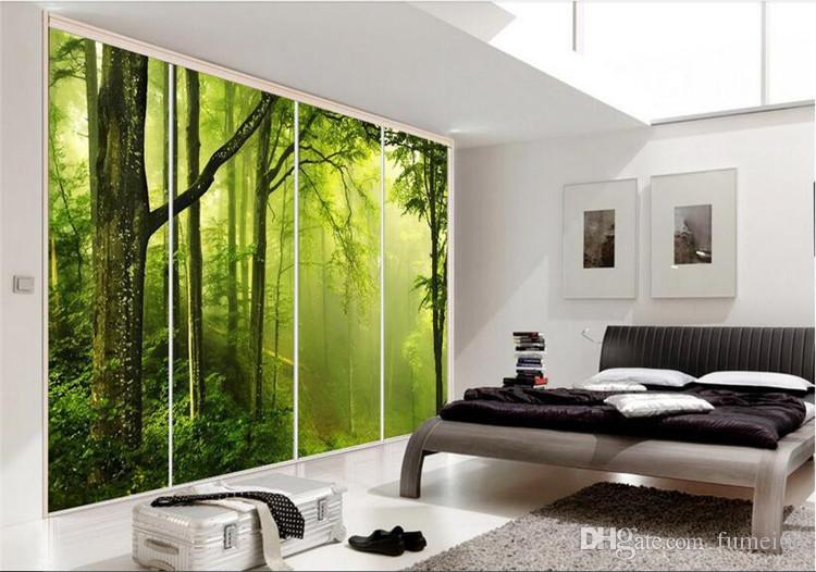 3d room wallpaper High-end custom mural non-woven wall sticker 3 d Green forest nature painting photo 3d wall murals wallpaper