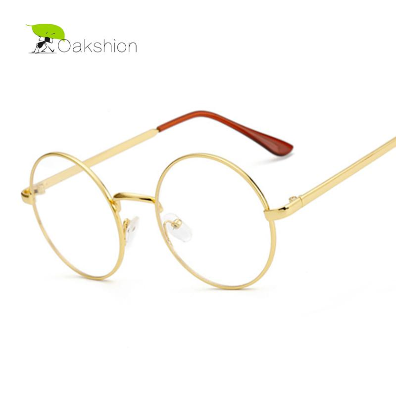 7918c7af84 2019 Wholesale Korean Gold Glasses Frames Nerd Glasses Eyeglasses Frame  Metal Optical Glasses Round Retro Female Clear Lens Transparent Eyewear  From ...